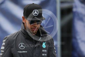 World © Octane Photographic Ltd. Mercedes AMG Petronas F1 W06 Hybrid – Lewis Hamilton. Saturday 5th September 2015, F1 Italian GP Paddock, Monza, Italy. Digital Ref: 1409LB1D0334