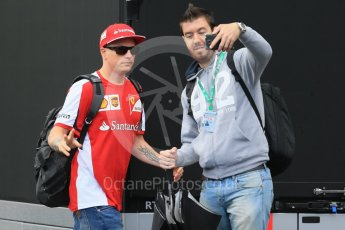 World © Octane Photographic Ltd. Scuderia Ferrari SF15-T– Kimi Raikkonen. Saturday 5th September 2015, F1 Italian GP Paddock, Monza, Italy. Digital Ref: 1409LB1D0558