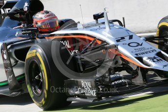 World © Octane Photographic Ltd. Sahara Force India VJM08B – Nico Hulkenberg. Saturday 5th September 2015, F1 Italian GP Practice 3, Monza, Italy. Digital Ref: 1411LB1D1249