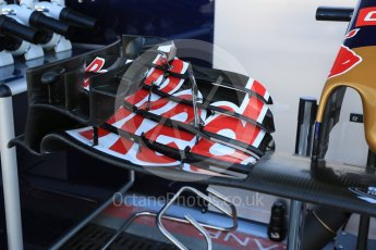 World © Octane Photographic Ltd. Scuderia Toro Rosso STR10 front wing detail. Saturday 5th September 2015, F1 Italian GP Practice 3, Monza, Italy. Digital Ref: 1411LB5D8609