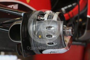World © Octane Photographic Ltd. Scuderia Ferrari SF15-T front brakes. Thursday 3rd September 2015, F1 Italian GP Paddock, Monza, Italy. Digital Ref: 1400LB1D8086