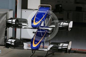 World © Octane Photographic Ltd. Sauber F1 Team C34-Ferrari alternate front wing designs. Thursday 3rd September 2015, F1 Italian GP Paddock, Monza, Italy. Digital Ref: 1400LB5D8099