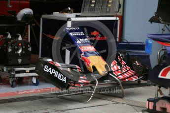 World © Octane Photographic Ltd. Scuderia Toro Rosso STR10 nose and front wing. Thursday 3rd September 2015, F1 Italian GP Paddock, Monza, Italy. Digital Ref: 1400LB5D8105