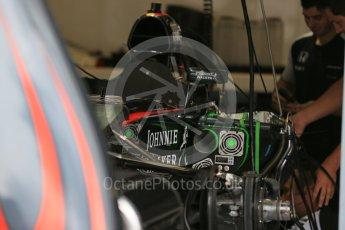 World © Octane Photographic Ltd. McLaren Honda MP4/30 mirror detail. Thursday 3rd September 2015, F1 Italian GP Paddock, Monza, Italy. Digital Ref: 1400LB5D8119