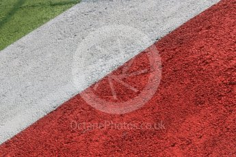 World © Octane Photographic Ltd. Friday 4th September 2015. Italian paint colours on the rumble strip. GP3 Practice - Monza, Italy. Digital Ref. : 1410LB5D8517