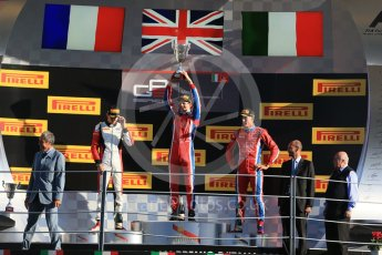 World © Octane Photographic Ltd. Saturday 5th September 2015. Arden International – Emil Bernstorff (1st), ART Grand Prix – Esteban Ocon (2nd) and Arden International – Kevin Ceccon. GP3 Race 1 - Monza, Italy. Digital Ref. : 1414LB1D1915