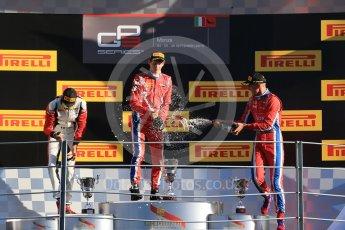 World © Octane Photographic Ltd. Saturday 5th September 2015. Arden International – Emil Bernstorff (1st), ART Grand Prix – Esteban Ocon (2nd) and Arden International – Kevin Ceccon. GP3 Race 1 - Monza, Italy. Digital Ref. : 1414LB1D1950