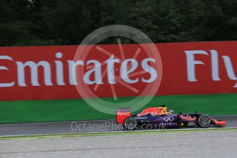 World © Octane Photographic Ltd. Infiniti Red Bull Racing RB11 – Daniel Ricciardo. Friday 4th September 2015, F1 Italian GP Practice 1, Monza, Italy. Digital Ref: 1405LB1D8729