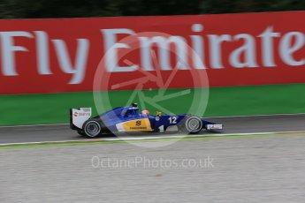 World © Octane Photographic Ltd. Sauber F1 Team C34-Ferrari – Felipe Nasr. Friday 4th September 2015, F1 Italian GP Practice 1, Monza, Italy. Digital Ref: 1405LB1D8762