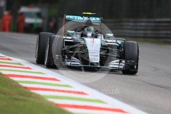 World © Octane Photographic Ltd. Mercedes AMG Petronas F1 W06 Hybrid – Nico Rosberg. Friday 4th September 2015, F1 Italian GP Practice 1, Monza, Italy. Digital Ref: 1405LB7D5561