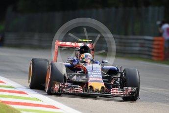 World © Octane Photographic Ltd. Scuderia Toro Rosso STR10 – Carlos Sainz Jnr. Friday 4th September 2015, F1 Italian GP Practice 1, Monza, Italy. Digital Ref: 1405LB7D5641