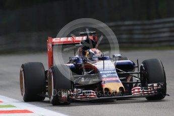 World © Octane Photographic Ltd. Scuderia Toro Rosso STR10 – Max Verstappen. Friday 4th September 2015, F1 Italian GP Practice 1, Monza, Italy. Digital Ref: 1405LB7D5810