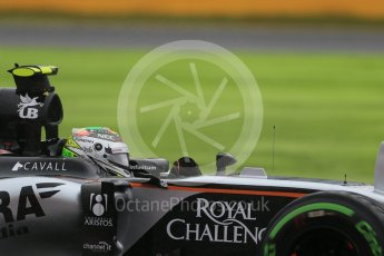 World © Octane Photographic Ltd. Sahara Force India VJM08B – Sergio Perez. Friday 25th September 2015, F1 Japanese Grand Prix, Practice 2, Suzuka. Digital Ref: