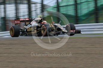 World © Octane Photographic Ltd. Lotus F1 Team E23 Hybrid – Pastor Maldonado. Saturday 26th September 2015, F1 Japanese Grand Prix, Practice 3, Suzuka. Digital Ref: