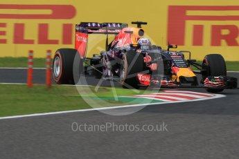 World © Octane Photographic Ltd. Infiniti Red Bull Racing RB11 – Daniel Ricciardo. Saturday 26th September 2015, F1 Japanese Grand Prix, Practice 3, Suzuka. Digital Ref: