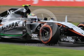 World © Octane Photographic Ltd. Sahara Force India VJM08B – Sergio Perez. Saturday 26th September 2015, F1 Japanese Grand Prix, Practice 3, Suzuka. Digital Ref: