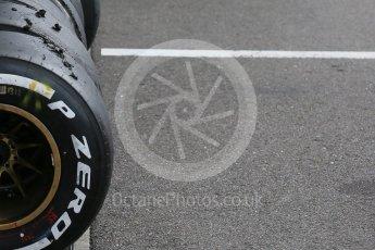 World © Octane Photographic Ltd. Pirelli checking tyres. Saturday 26th September 2015, F1 Japanese Grand Prix, Practice 3, Suzuka. Digital Ref: