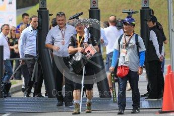 World © Octane Photographic Ltd. FOM guest Fans in the paddock. Saturday 26th September 2015, F1 Japanese Grand Prix, Paddock, Suzuka. Digital Ref: 1445CB7D6386