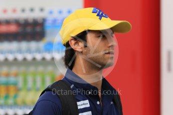 World © Octane Photographic Ltd. Sauber F1 Team C34-Ferrari – Felipe Nasr. Saturday 26th September 2015, F1 Japanese Grand Prix, Paddock, Suzuka. Digital Ref: 1445CB7D6432
