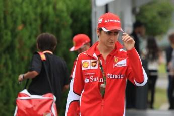 World © Octane Photographic Ltd. Scuderia Ferrari SF15-T– Esteban Gutierrez. Sunday 27th September 2015, F1 Japanese Grand Prix, Setup, Suzuka. Digital Ref: 1448CB7D7626