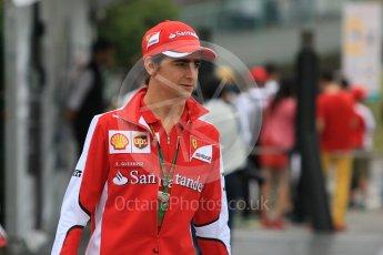 World © Octane Photographic Ltd. Scuderia Ferrari SF15-T– Esteban Gutierrez. Sunday 27th September 2015, F1 Japanese Grand Prix, Setup, Suzuka. Digital Ref: 1448CB7D7631