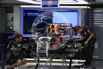World © Octane Photographic Ltd. Infiniti Red Bull Racing RB11 of Daniil Kvyat fully rebuilt. Sunday 27th September 2015, F1 Japanese Grand Prix, Setup, Suzuka. Digital Ref: 1448LB1D3798