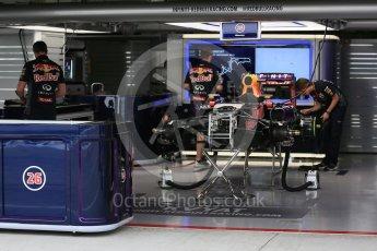 World © Octane Photographic Ltd. Infiniti Red Bull Racing RB11 of Daniil Kvyat fully rebuilt. Sunday 27th September 2015, F1 Japanese Grand Prix, Setup, Suzuka. Digital Ref: