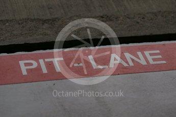 World © Octane Photographic Ltd. Pit lane marking. Sunday 27th September 2015, F1 Japanese Grand Prix, Setup, Suzuka. Digital Ref: 1448LB1D3818
