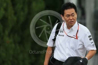 World © Octane Photographic Ltd. McLaren Honda - Yasuhisa Arai. Sunday 27th September 2015, F1 Japanese Grand Prix, Setup, Suzuka. Digital Ref: 1448LB1D3919