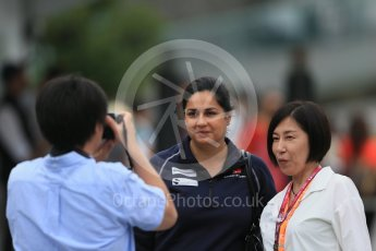 World © Octane Photographic Ltd. Sauber F1 Team - Monisha Kaltenborn. Sunday 27th September 2015, F1 Japanese Grand Prix, Setup, Suzuka. Digital Ref: 1448LB1D4035