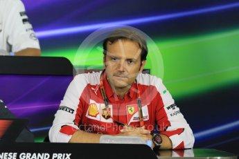 World © Octane Photographic Ltd. Team Personnel Press Conference. Friday 25th September 2015, F1 Japanese Grand Prix, Suzuka. Luigi Fraboni – Scuderia Ferrari Head of Engine Trackside operations. Digital Ref: 1444CB7D6136