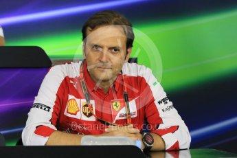 World © Octane Photographic Ltd. Team Personnel Press Conference. Friday 25th September 2015, F1 Japanese Grand Prix, Suzuka. Luigi Fraboni – Scuderia Ferrari Head of Engine Trackside operations. Digital Ref: 1444CB7D6152
