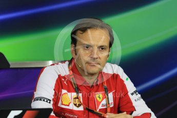 World © Octane Photographic Ltd. Team Personnel Press Conference. Friday 25th September 2015, F1 Japanese Grand Prix, Suzuka. Luigi Fraboni – Scuderia Ferrari Head of Engine Trackside operations. Digital Ref: 1444CB7D6177