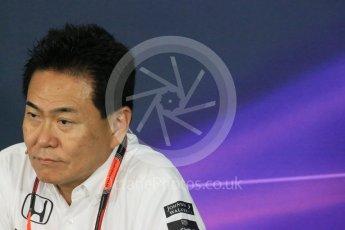 World © Octane Photographic Ltd. Team Personnel Press Conference. Friday 25th September 2015, F1 Japanese Grand Prix, Suzuka. Yasuhisa Arai - Honda Head of Motorsport. Digital Ref: 1444LB1D1964