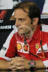 World © Octane Photographic Ltd. Team Personnel Press Conference. Friday 25th September 2015, F1 Japanese Grand Prix, Suzuka. Luigi Fraboni – Scuderia Ferrari Head of Engine Trackside operations. Digital Ref: 1444LB1D2042