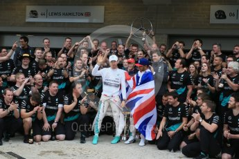World © Octane Photographic Ltd. Mercedes AMG Petronas F1 team – Lewis Hamilton, celebrate on winning the USA GP, with enough points to take the World Drivers Championship (WDC) along with Nico Rosberg. Sunday 25th October 2015, F1 USA Grand Prix, Austin, Texas - Circuit of the Americas (COTA). Digital Ref: 1468LB1D3278