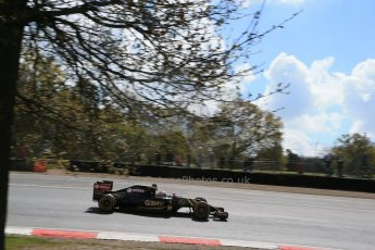 World © Octane Photographic Ltd. Lotus F1 Team E23 Hybrid - Romain Grosjean. Lotus filming day at Brands Hatch. Digital Ref: 1238LB1D5159