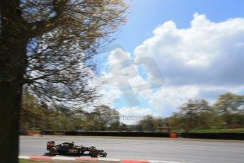 World © Octane Photographic Ltd. Lotus F1 Team E23 Hybrid - Romain Grosjean. Lotus filming day at Brands Hatch. Digital Ref: 1238LB1D5199