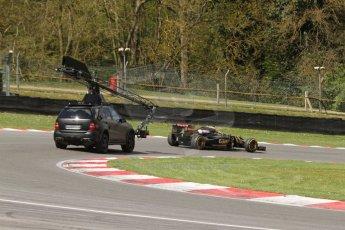 World © Octane Photographic Ltd. Lotus F1 Team E23 Hybrid - Romain Grosjean. Lotus filming day at Brands Hatch. Digital Ref: 1238LB7L7422