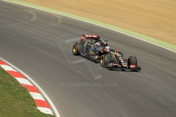 World © Octane Photographic Ltd. Lotus F1 Team E23 Hybrid - Romain Grosjean. Lotus filming day at Brands Hatch. Digital Ref: 1238LW1L4980