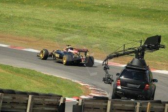 World © Octane Photographic Ltd. Lotus F1 Team E23 Hybrid - Romain Grosjean. Lotus filming day at Brands Hatch. Digital Ref: 1238LW1L5018