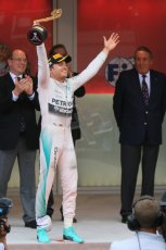 World © Octane Photographic Ltd. Mercedes AMG Petronas F1 W06 Hybrid – Nico Rosberg. Sunday 24th May 2015, F1 Race - Podium, Monte Carlo, Monaco. Digital Ref: 1287CB7D8135
