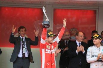 World © Octane Photographic Ltd. Scuderia Ferrari SF15-T– Sebastian Vettel. Sunday 24th May 2015, F1 Race - Podium, Monte Carlo, Monaco. Digital Ref: 1287CB7D8178