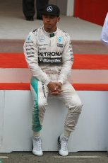 World © Octane Photographic Ltd. Mercedes AMG Petronas F1 W06 Hybrid – Lewis Hamilton. Sunday 24th May 2015, F1 Race - Podium, Monte Carlo, Monaco. Digital Ref: 1287CB7D8368
