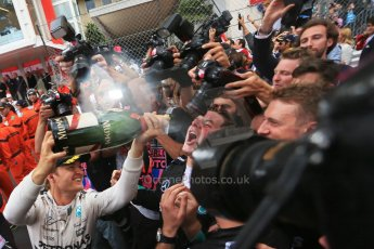 World © Octane Photographic Ltd. Mercedes AMG Petronas F1 W06 Hybrid – Nico Rosberg. Sunday 24th May 2015, F1 Race - Podium, Monte Carlo, Monaco. Digital Ref: 1287LB1D8571