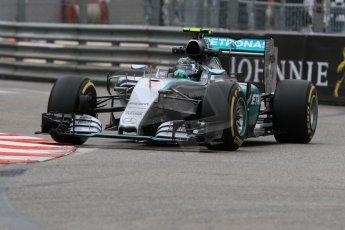 World © Octane Photographic Ltd. Mercedes AMG Petronas F1 W06 Hybrid – Nico Rosberg. Thursday 21st May 2015, F1 Practice 2, Monte Carlo, Monaco. Digital Ref: 1274CB7D3283