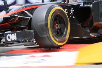 World © Octane Photographic Ltd. McLaren Honda MP4/30 - Jenson Button. Thursday 21st May 2015, F1 Practice 2, Monte Carlo, Monaco. Digital Ref: 1274CB7D3485