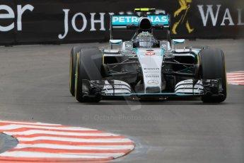 World © Octane Photographic Ltd. Mercedes AMG Petronas F1 W06 Hybrid – Nico Rosberg. Thursday 21st May 2015, F1 Practice 2, Monte Carlo, Monaco. Digital Ref: 1274CB7D3527