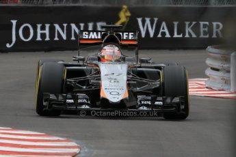 World © Octane Photographic Ltd. Sahara Force India VJM08 – Nico Hulkenberg. Thursday 21st May 2015, F1 Practice 2, Monte Carlo, Monaco. Digital Ref: 1274CB7D3530