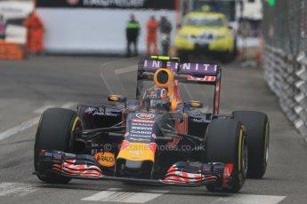 World © Octane Photographic Ltd. Infiniti Red Bull Racing RB11 – Daniil Kvyat. Thursday 21st May 2015, F1 Practice 2, Monte Carlo, Monaco. Digital Ref: 1274CB7D3678
